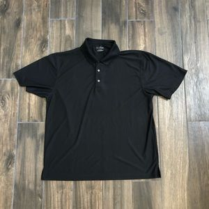 PGA Tour Golf Polo Shirt Short Sleeve Black XL